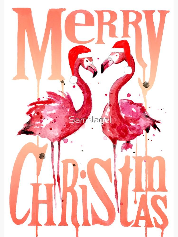 Weihnachtsflamingos von SamNagel