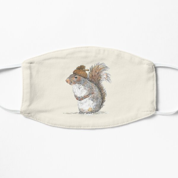 Squirrel with an Acorn Hat Flat Mask