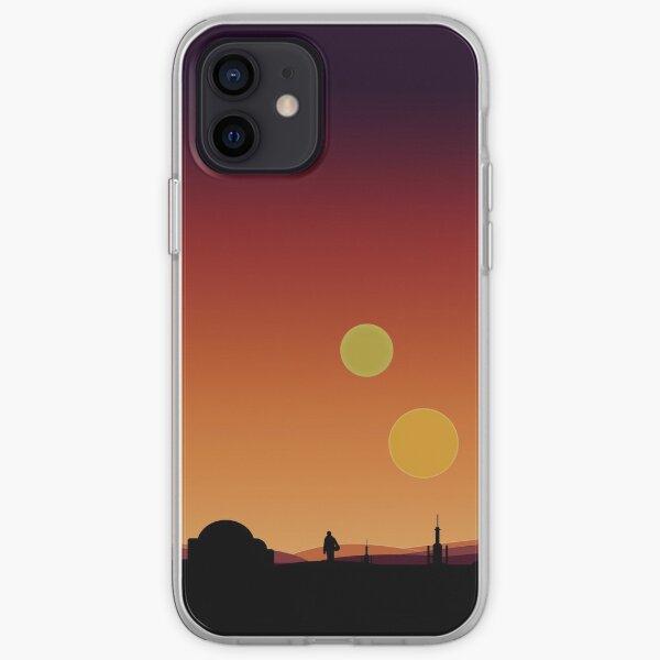 Binary Sunset  iPhone Soft Case