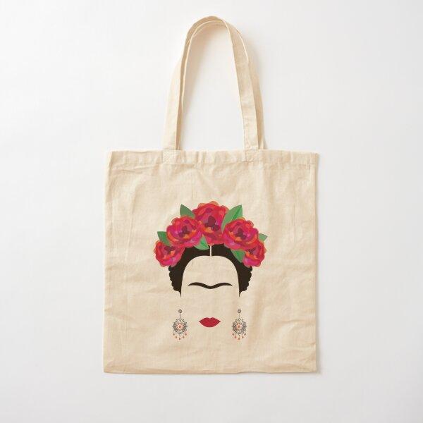 Frida Kahlo front sourcils et boucles d'oreilles Tote bag classique