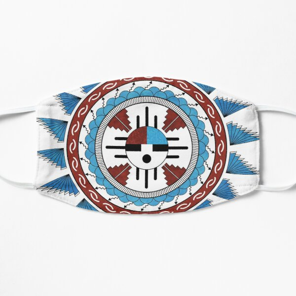 Southwest Native American Art Mandala Flat Mask
