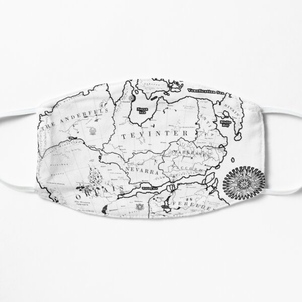 Thedas Map Flat Mask