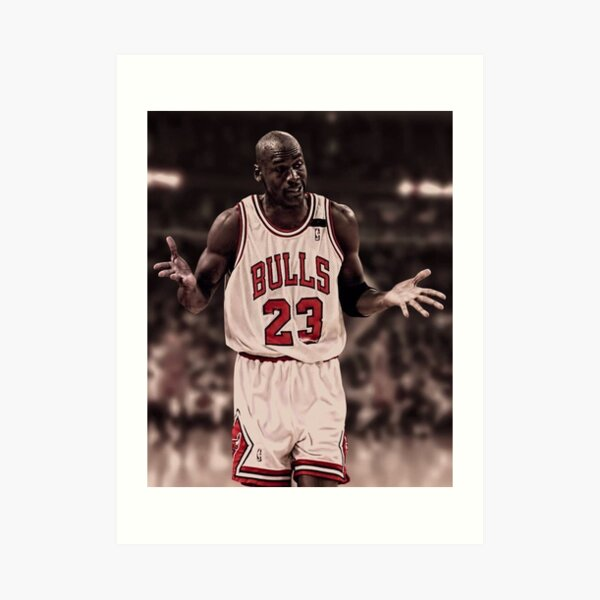 Michael Jordan El encogimiento de hombros Lámina artística