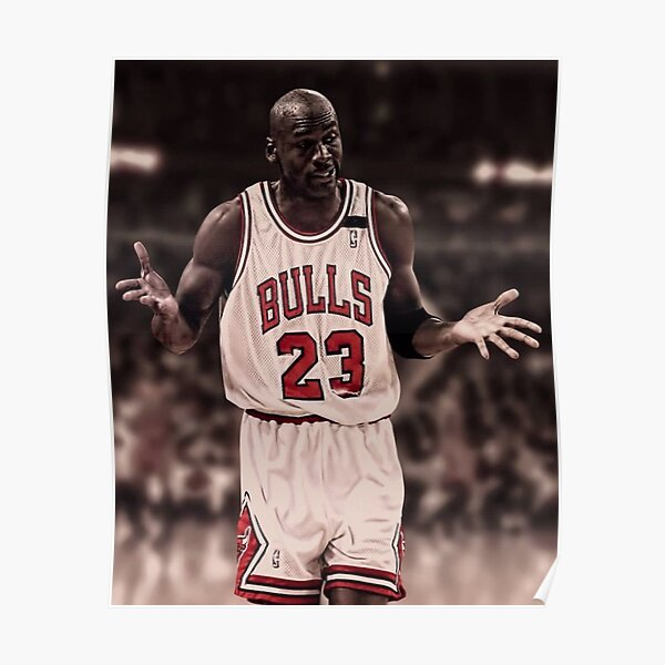 Michael Jordan The Shrug Poster