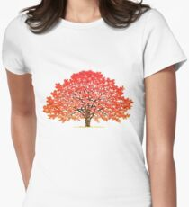 Maple Tree 1 Women's Fitted T-Shirt
