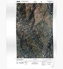 USGS Topo Map Washington State WA Doe Mountain 20110509 TM Poster