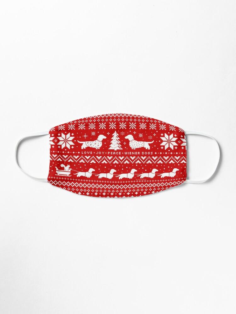 Alternate view of Dachshunds Christmas Sweater Pattern Mask