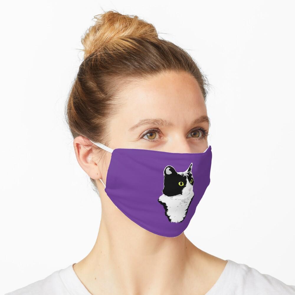 Regal Tuxedo Kitty Mask