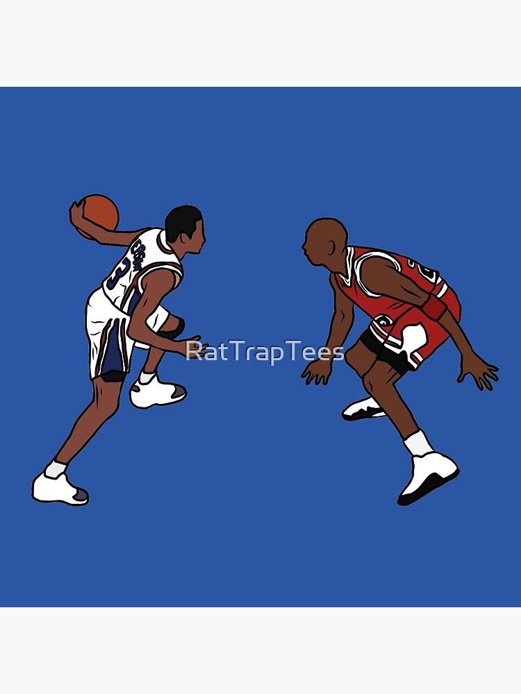 Allen Iverson Crosses Over Michael Jordan by RatTrapTees