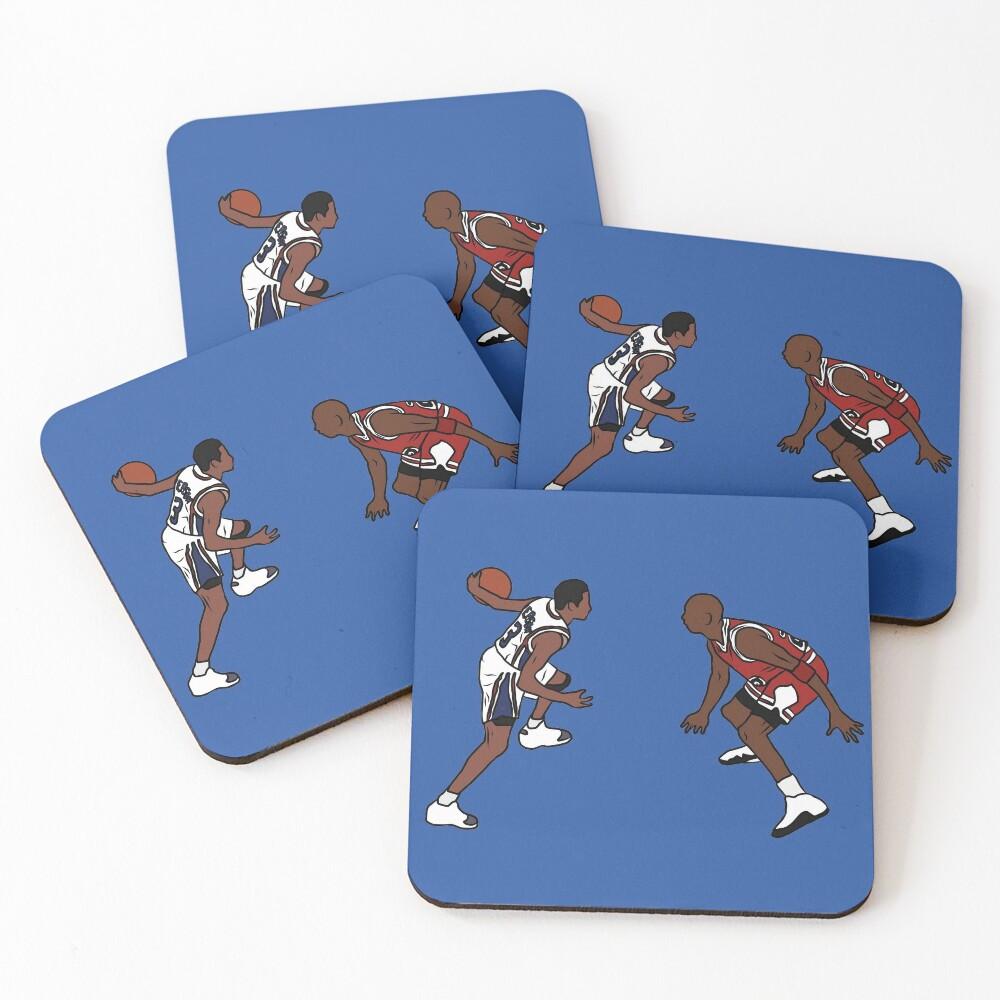 Allen Iverson Crosses Over Michael Jordan Coasters (Set of 4)