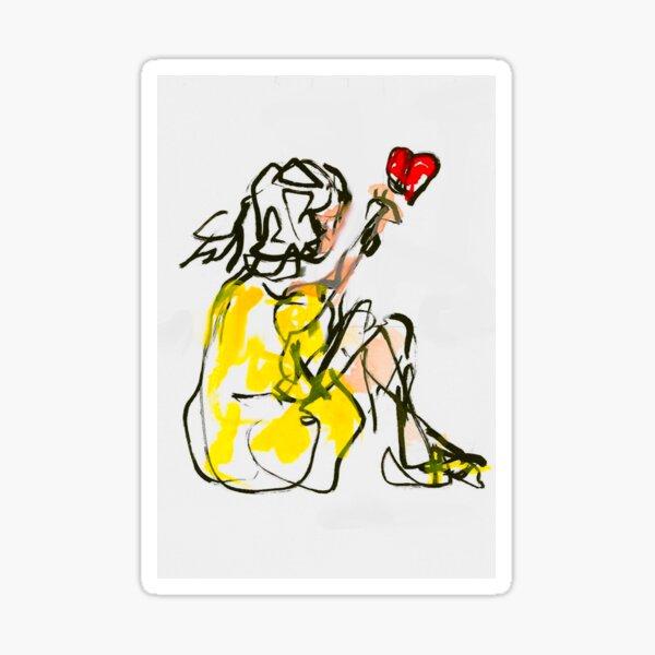 Ich schenke Dir ein Herz mit Blumen Sticker