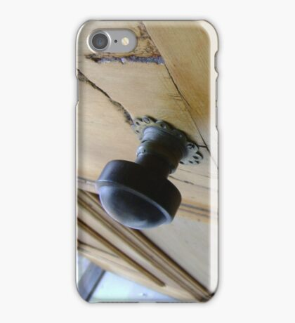 admission granted (old wood door) iPhone Case/Skin