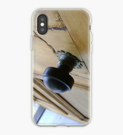 admission granted (old wood door) iPhone Case