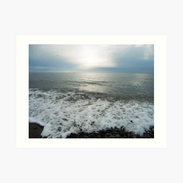 Waves, Kilkeel Beach Art Print