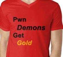 Pwn Demons Get Gold- Special V-Neck Edition Mens V-Neck T-Shirt