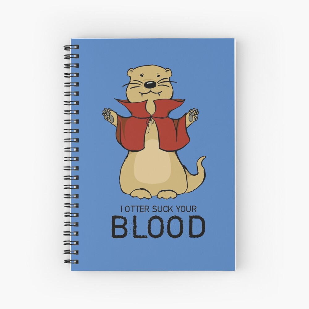 Otter Vampire Spiral Notebook