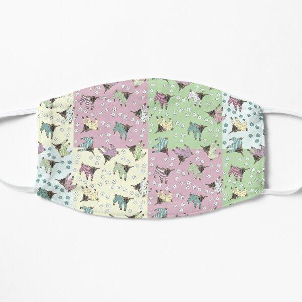 Pajama'd Baby Goats - Patchwork Flat Mask