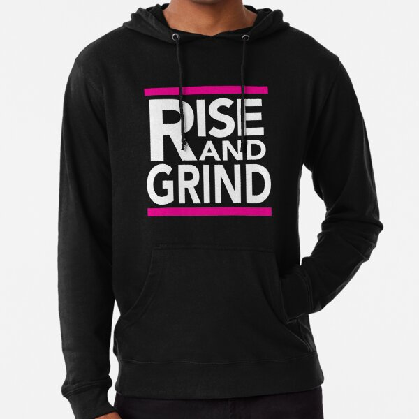 Rise and Grind - RUN DMC - Pink Lightweight Hoodie