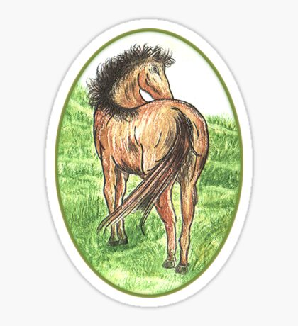 Cameo Horse Sticker