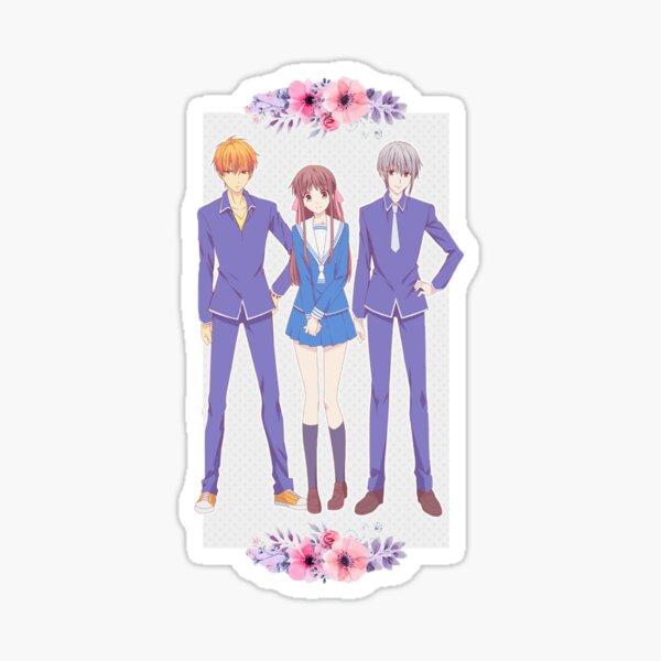 Tohru, Yuki & Kyo (Fruits Basket) Sticker