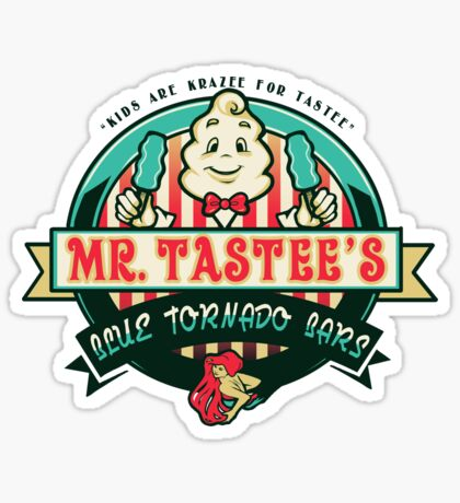 Mr. Tastee's Blue Tornado Bars Sticker