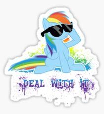 My Little Pony - MLP - Raindow Dash - Deal With It Sticker