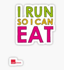 I Run So I Can Eat Sticker