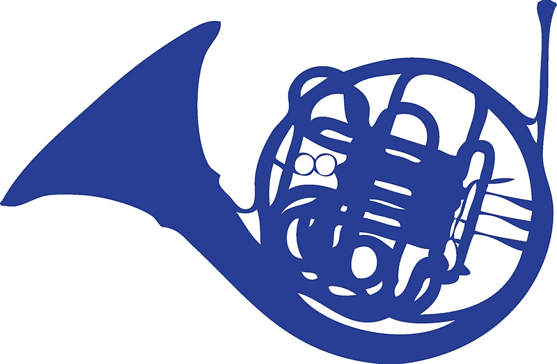 Quot Blue French Horn Quot Stickers By Ben Holmes Redbubble
