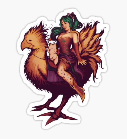 Mog's Chocobo Riding Club Sticker