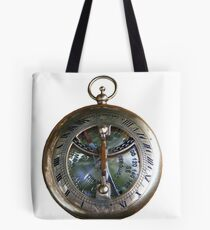 Brass Pocket Compass, Sundail Stock Image  Tote Bag