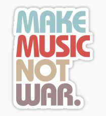Make Music Not War (Vintage) Sticker