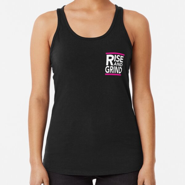 Rise and Grind - RUN DMC - Pink Racerback Tank Top