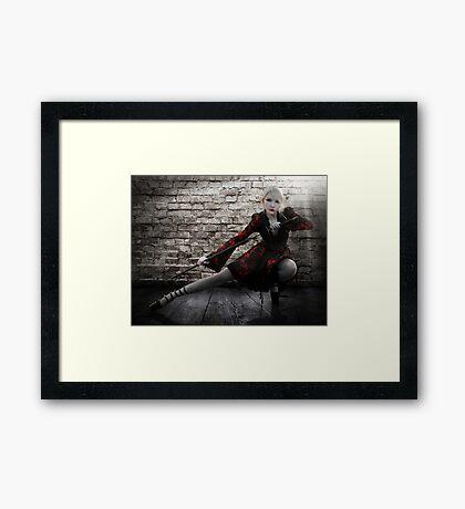Alley Fight Framed Print
