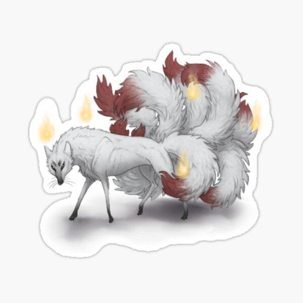 Kitsune Fire Sticker