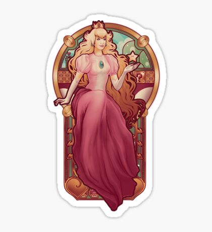 Princess Toadstool Nouveau Sticker