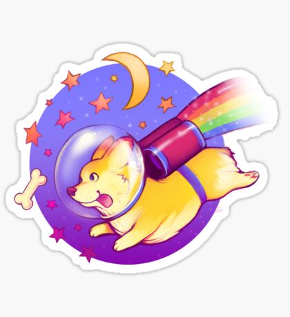 See You Space Corgi Sticker