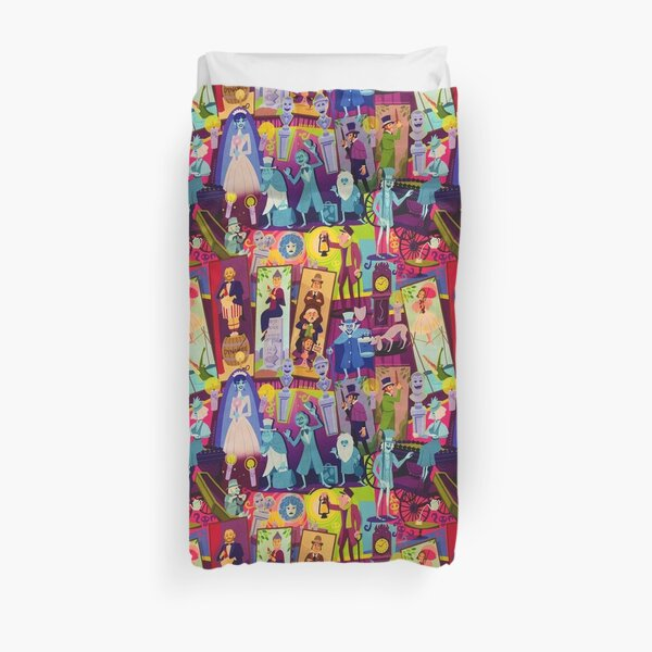 Retro Mansion Collage Duvet Cover