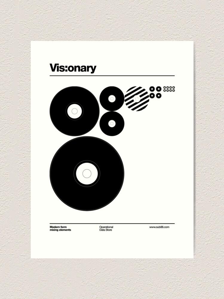 Alternate view of Vis:onary b Art Print