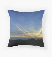 Sunset Squadron Throw Pillow