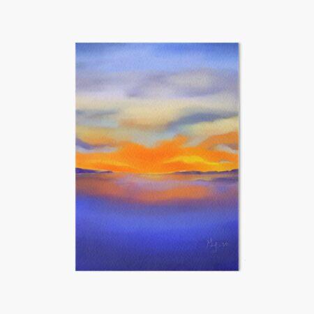 Sunset at the Lake 1 Art Board Print
