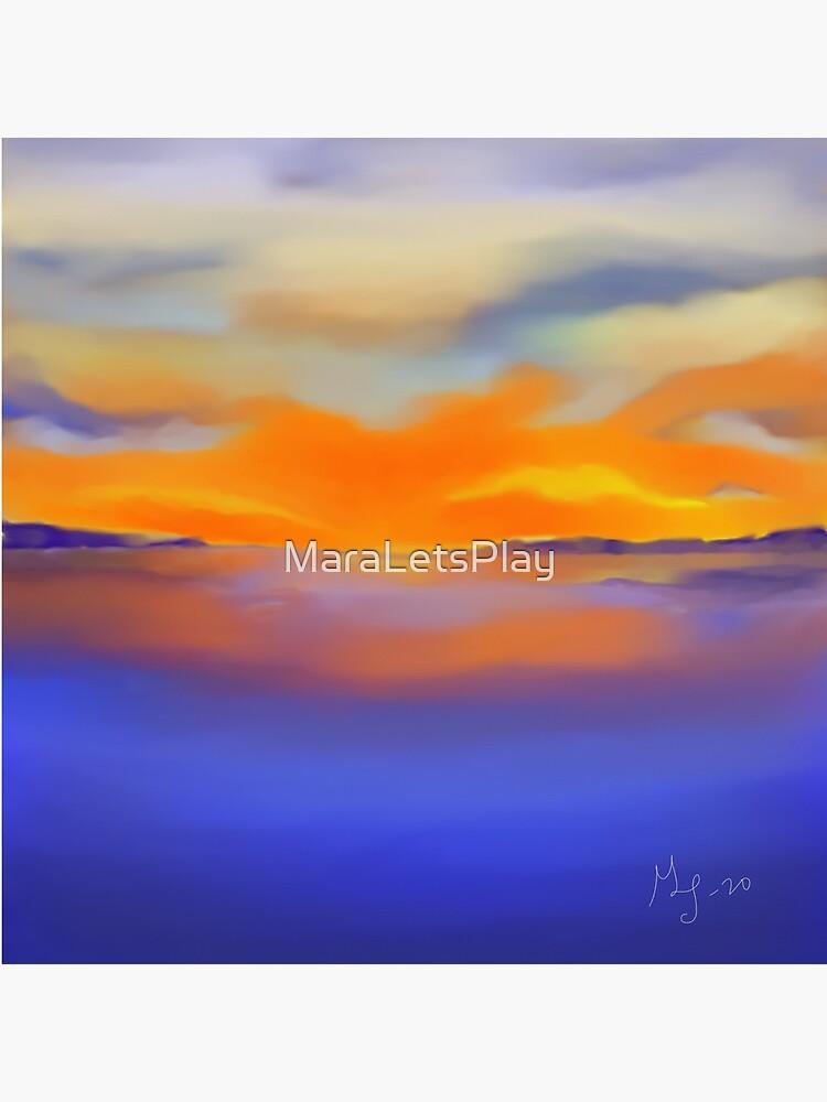 Sunset at the Lake 1 by MaraLetsPlay