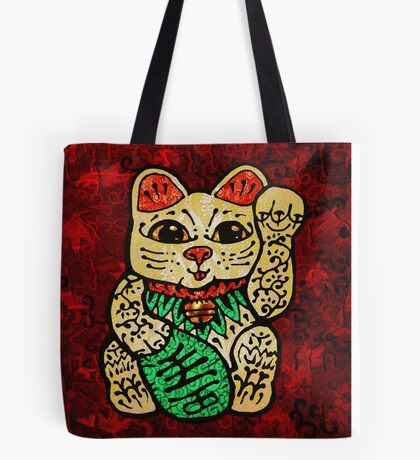 'Shiny Lucky Cat' Tote Bag