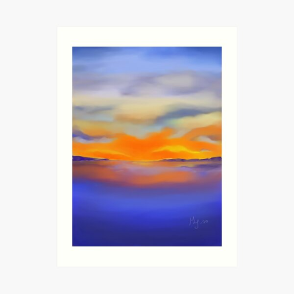 Sunset at the Lake 1 Art Print