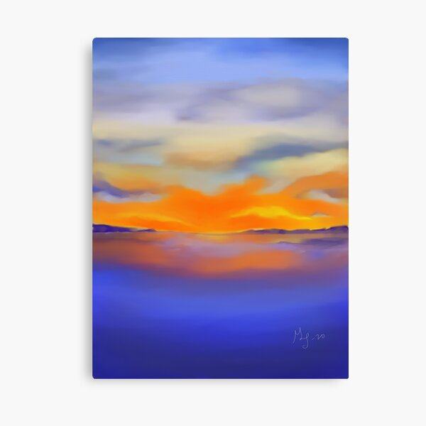 Sunset at the Lake 1 Canvas Print