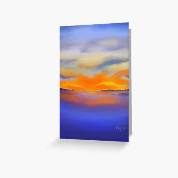 Sunset at the Lake 1 Greeting Card