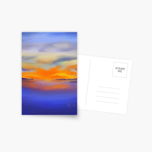 Sunset at the Lake 1 Postcard