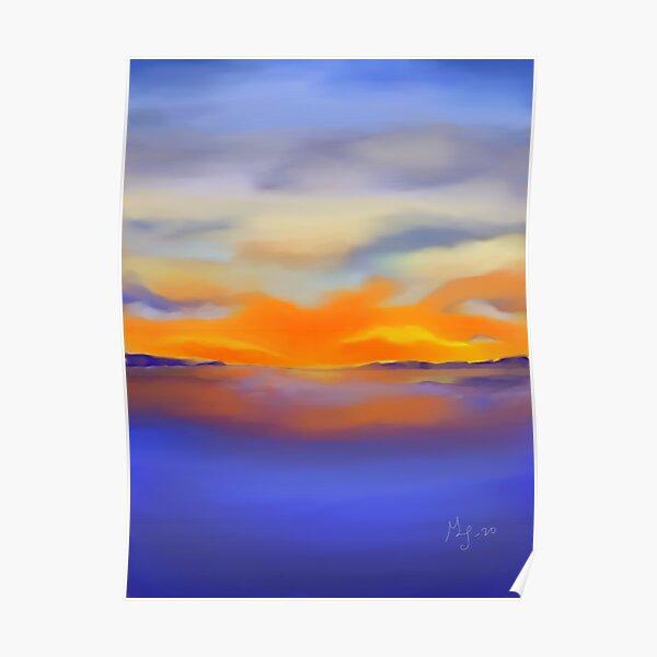 Sunset at the Lake 1 Poster