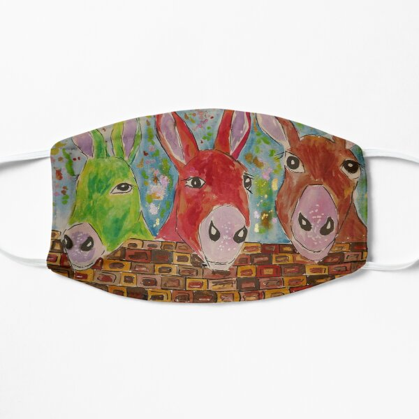 Three quirky colourful Donkeys Mask