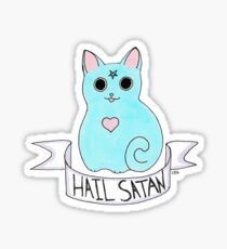 Hail Satan cat Sticker