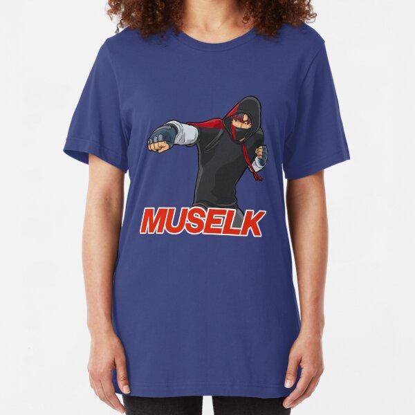 Muselk Punching Character Slim Fit T-Shirt